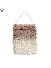 Bloomingville Colgadura de lana - Rosa - h90x60cm - Bloomingville