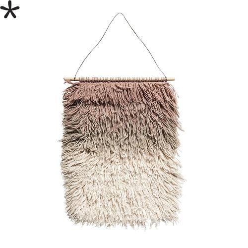 Bloomingville Pendentif en tissage de laine - Rose - h90x60cm - Bloomingville