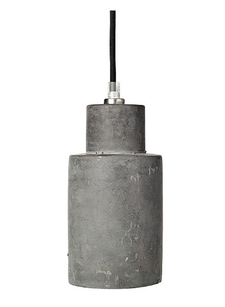 Broste Copenhagen Lámpara Suspensión de hormigón 'Gerd' - gris oscuro - Ø10xh22cm - Broste Copenhagen