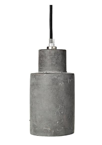 Broste Copenhagen Concrete pendant lamp 'Gerd' - dark grey - Ø10xh22cm - Broste Copenhagen