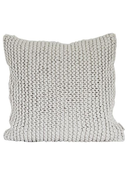Tell me more Coussin tricot 100% coton - 60x60cm - Blanc / Offwhite - Tell Me More