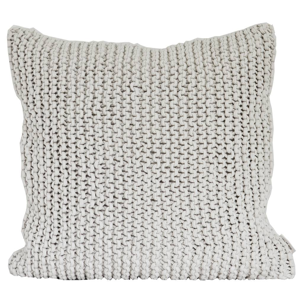 Tell me more Knitted rope cushion cover - 100% cotton - 60x60cm - Offwhite - Tell Me More - Copy