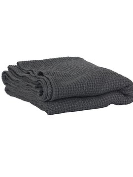 Tell me more Blanket in waffled cotton MIRO - Dark Grey - 140x200cm - Tell Me More
