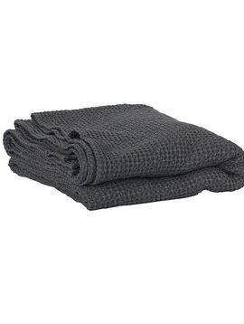 Tell me more Couverture MIRO en coton gaufré - gris foncé - 140x200cm - Tell Me More