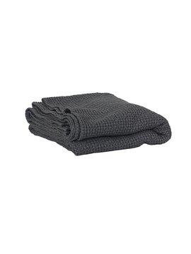 Tell me more Manta en algodón gofrado - Gris Oscuro - 180x260cm - Tell Me More