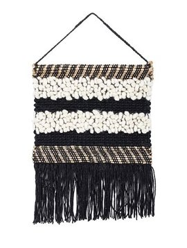 Bloomingville Pendentif en tissage de laine et jute - Noir - h60x50cm - Bloomingville