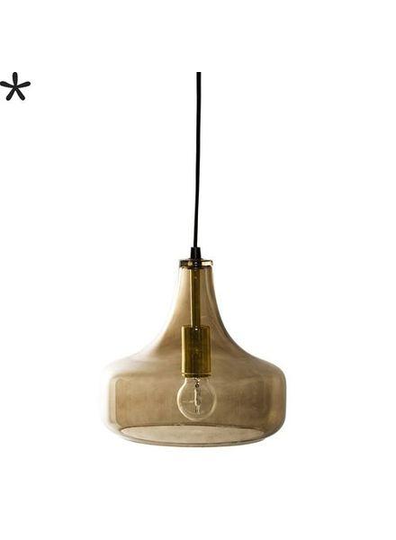 Bloomingville Lámpara de suspensión de vidrio - marrón - Ø25,5xH23cm - Bloomingville