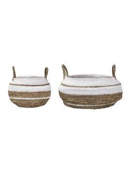Bloomingville Set of 2 Raffia baskets - Nature White - Bloomingville
