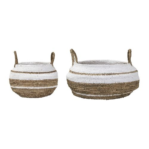 Bloomingville Set of 2 Raffia baskets - Nature White - Bloomingville