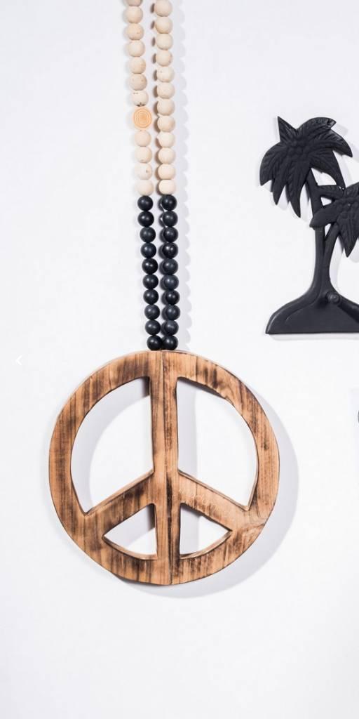 MaduMadu Peace Mala Negro/Natural - 30cm - MaduMadu