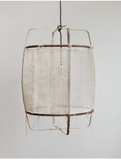 Ay Illuminate Lampe Suspension Bambou et Cachemire Z11 - blanc - Ø 48.5cm - Z11 - Ay illuminate