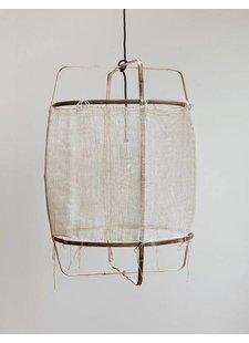 Ay Illuminate Lámpara de suspensión bambú/seda/cachemire Z11 - 48.5cm Ø - blanco - Ay iIluminate