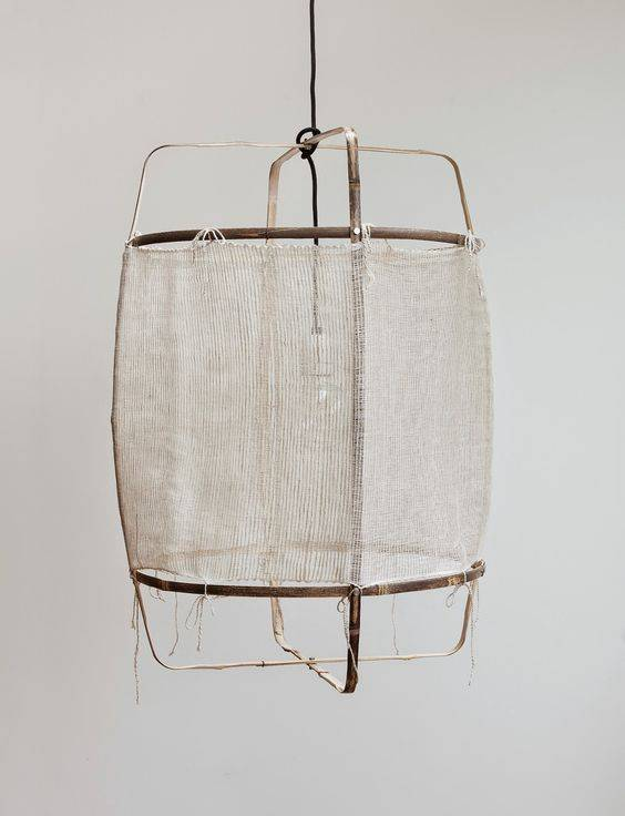 Ay Illuminate Lampe Suspension Bambou/Soie/Cachemire Z11 - blanc - Ø 48.5cm - Z11 - Ay illuminate