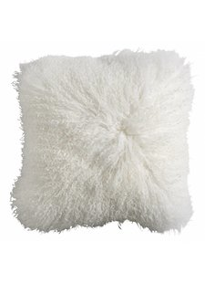 Nordal Seat Cover / Cushion Tibetan lamb fur - white - Nordal