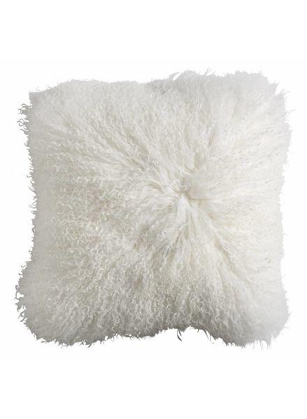 Nordal Seat Cover / Cushion Tibetan lamb fur - white - Nordal