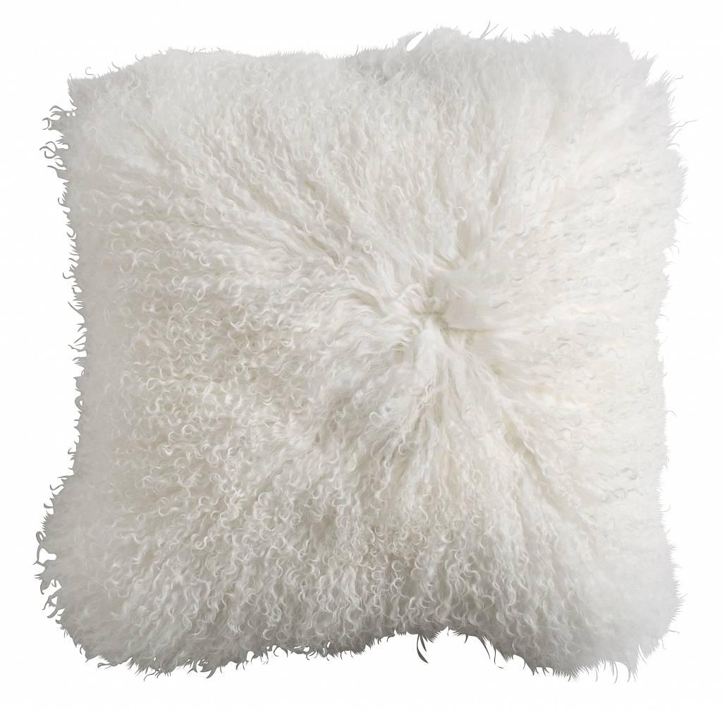 nordal coussin de si ge en peau d 39 agneau tibet blanc