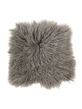 Bloomingville Seat Cover / Cushion Tibetanian Lambskin - grey - Bloomingville