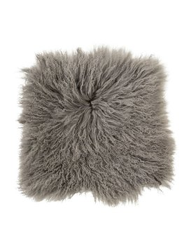 Bloomingville Coussin de siège en peau de mouton Mongolie - gris - Bloomingville