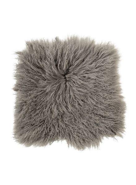 Bloomingville Seat Cover / Cushion Tibetanian Lambskin - grey - Bloomingville
