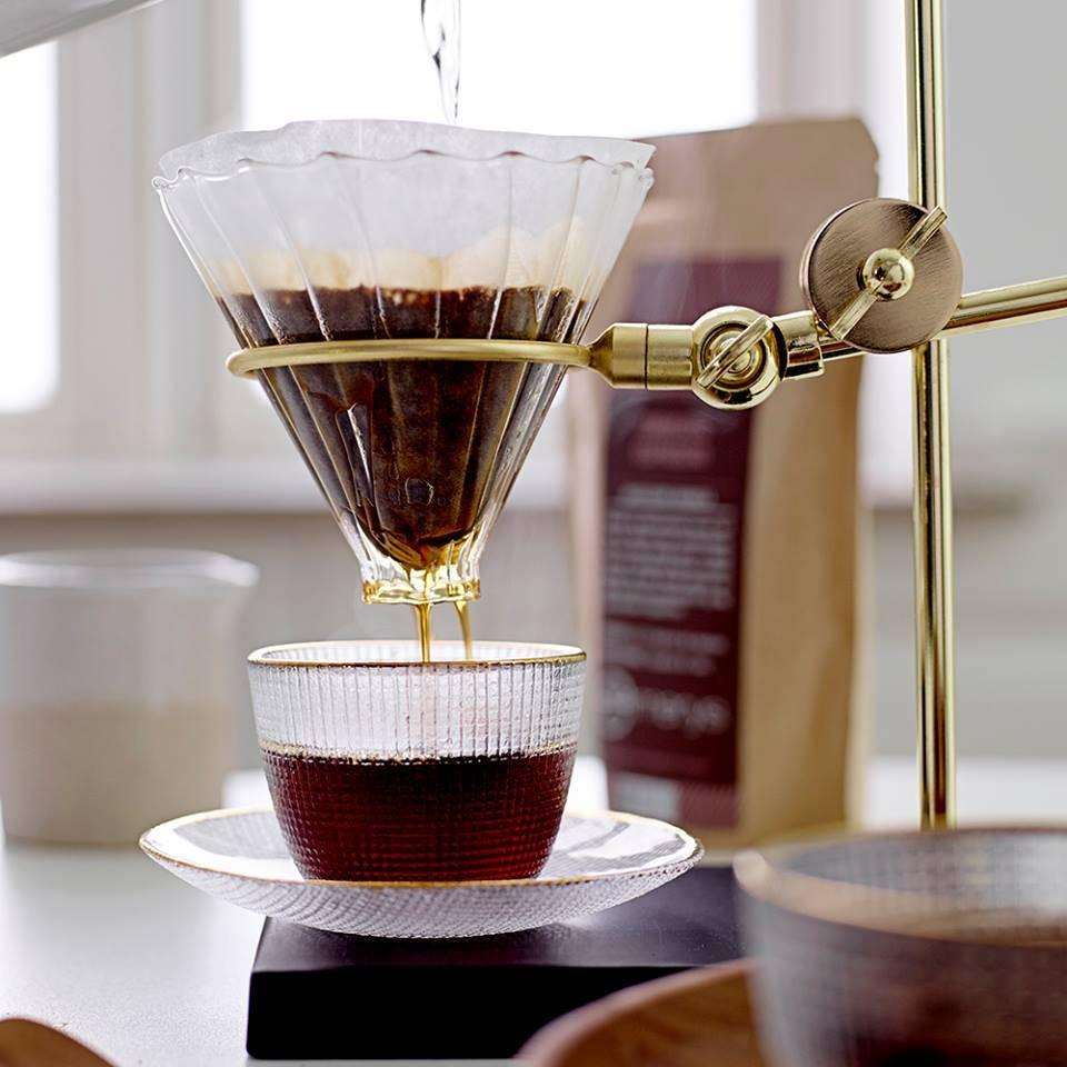 Bloomingville filtro de café medio - Oro y Vidrio - Bloomingville