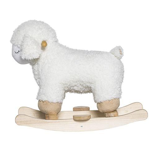 Bloomingville Mecedora ovejas - blanco - Bloomingville