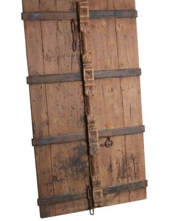 Porte décorative en teck - 92x8x164cm