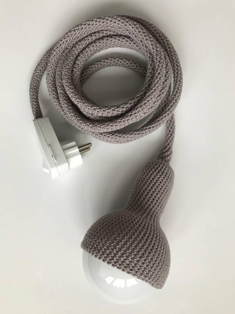 Et Aussi... Crocheted pendant lamp - dark gray - Et aussi