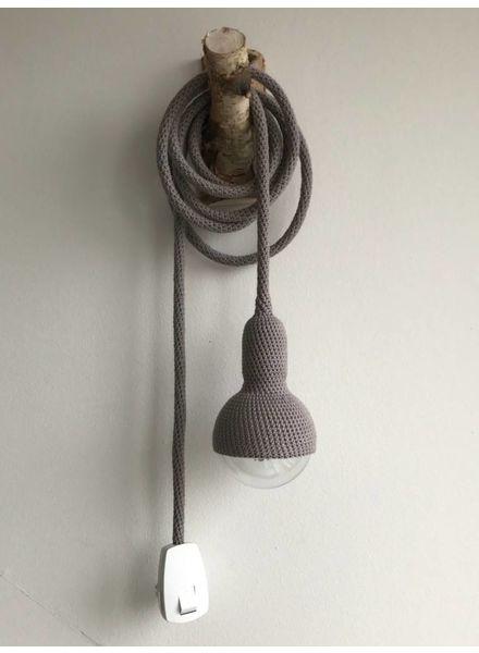 Et Aussi... lámparas de ganchillo - gris oscuro - et aussi