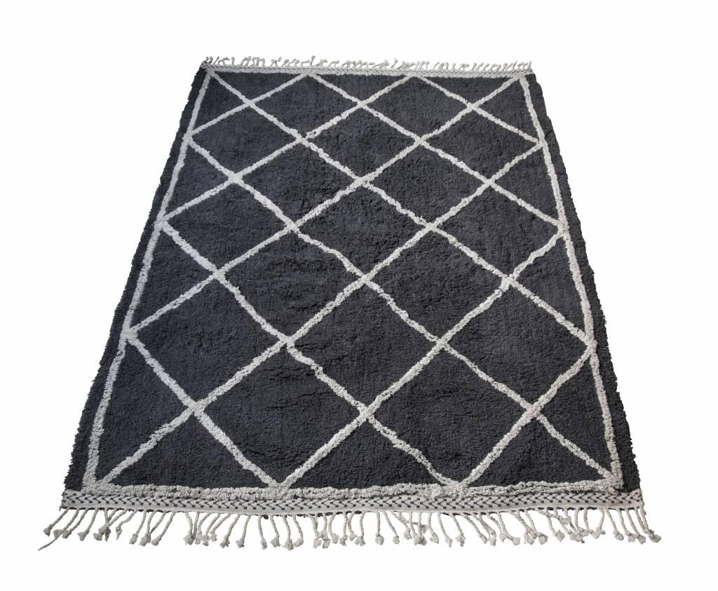 Snowdrops Copenhagen Berber style rug 'Oslo' - Grey & White - 170x240cm