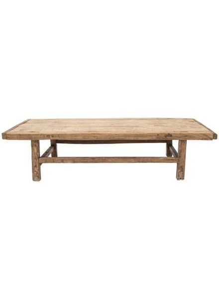 Table basse naturelle XL - 167x49xh42cm - Bois d'orme