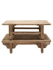 Snowdrops Copenhagen Natural coffee table S -79x44 xh25cm - Elm Wood - Copy