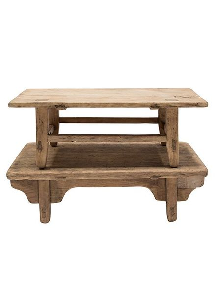 Table basse naturelle KANG - 79x44 xh25cm - Bois d'orme