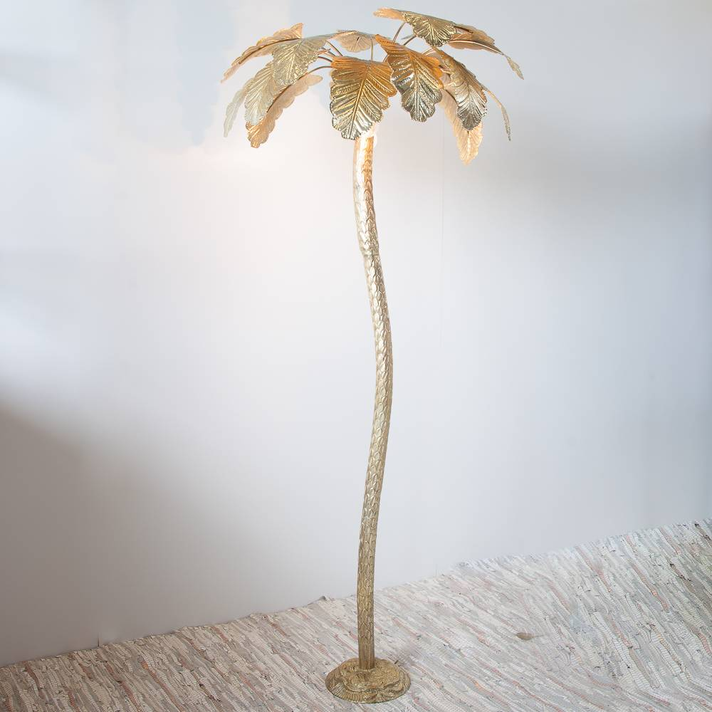 Zenza Floor Lamp Palm Tree Large Gold - Brass with Gold Finish - Ø75x180cm - Zenza