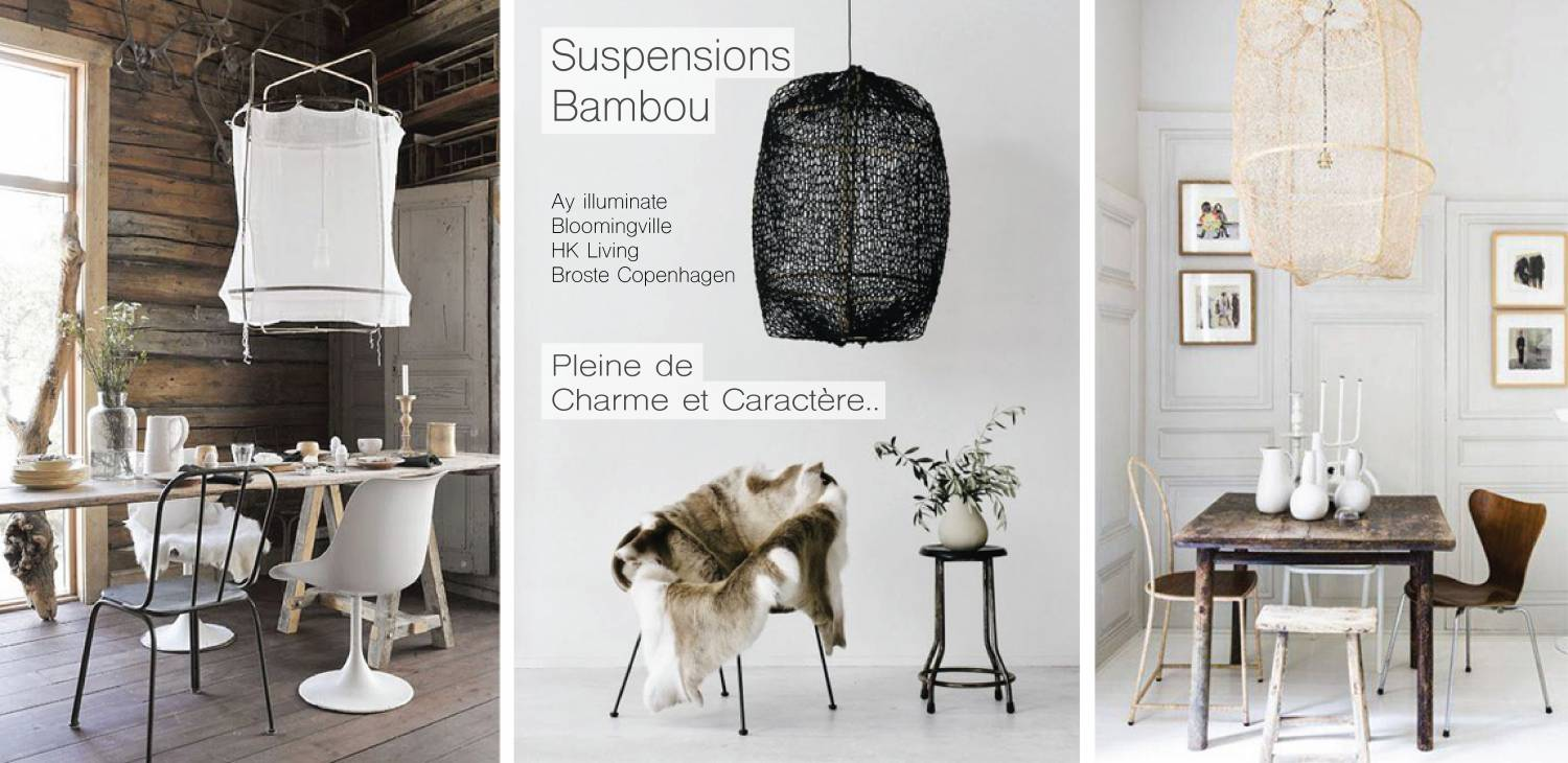 Suspension en Bambou