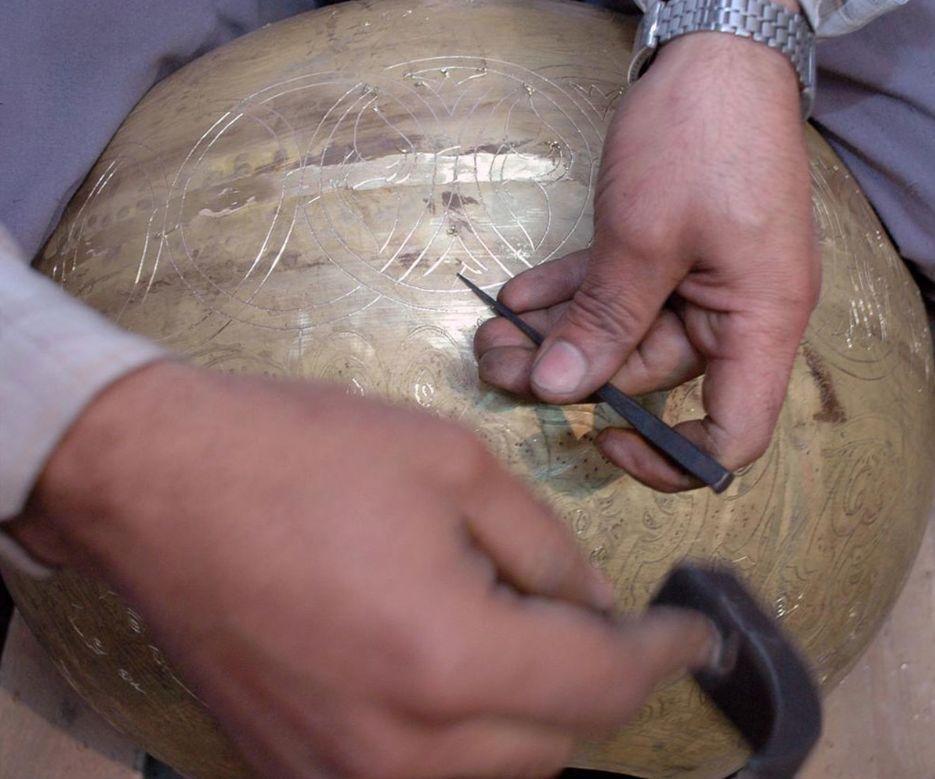 Zenza Pendant Lamp Boho Fan - silver - Zenza