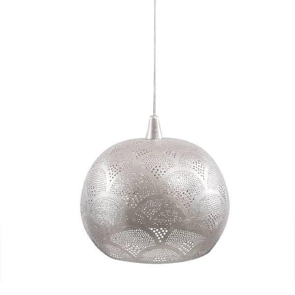 Zenza Lampe Suspension 'Loaf Fan' - Ø35x30cm - Laiton argenté - Zenza