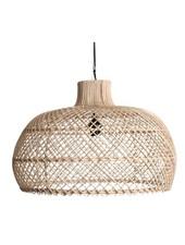 Oneworld Interiors Lámpara de suspensión de ratán - natural - Ø56cm