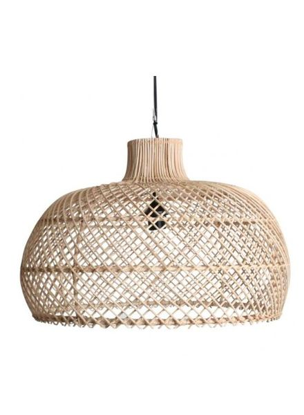 Lámpara de suspensión de ratán - natural - Ø56cm
