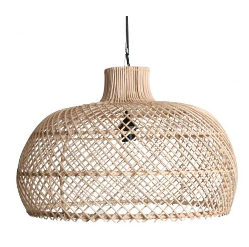 Oneworld interiors suspension en rotin naturel 56cm petite lily interiors - Suspension en osier ...