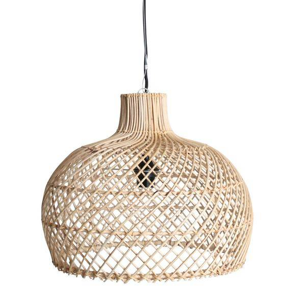 oneworld interiors rattan pendant lamp naturel 39cm petite lily interiors. Black Bedroom Furniture Sets. Home Design Ideas