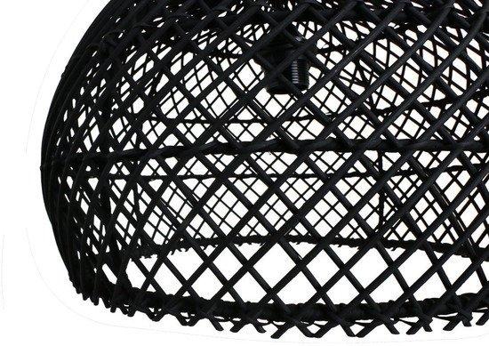 Oneworld Interiors Suspension en rotin - noir - Ø39cm