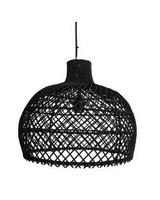 D co scandinave ethnique industrielle et vintage petite for Suspension rotin noir