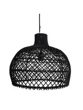 Oneworld Interiors Rattan pendant lamp - black - Ø39cm