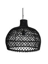 Rattan pendant lamp - black - Ø39cm