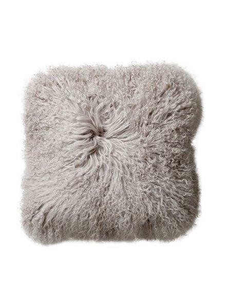 Bloomingville Coussin de siège en peau d'agneau Tibet - Nature - Bloomingville