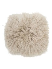 Bloomingville Seat Cover / Cushion Tibetanian Lambskin - beige - Bloomingville