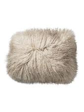 Bloomingville Coussin de siège en peau d'agneau Tibet - Nature - 40x30cm - Bloomingville