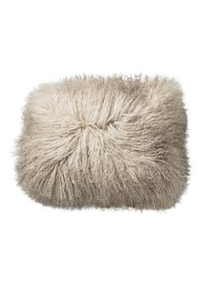 Bloomingville Seat Cover / Cushion Tibetanian Lambskin - Nature - 40x30cm - Bloomingville