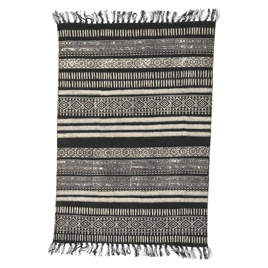 House Doctor Alfombra Stack - Negro/Gris/Beige- 160x230cm - House Doctor