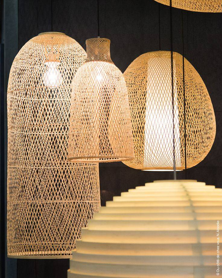 Ay Illuminate Bamboo Pendant Lamp Plume Mini Naturel